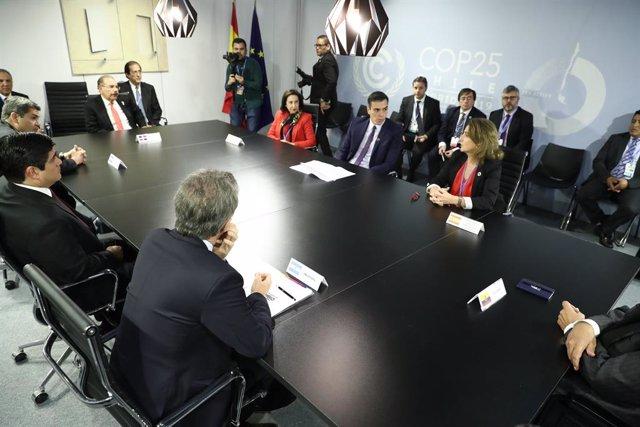 COP25.- Sánchez traslada a los líderes de América Latina que siempre podrán cont