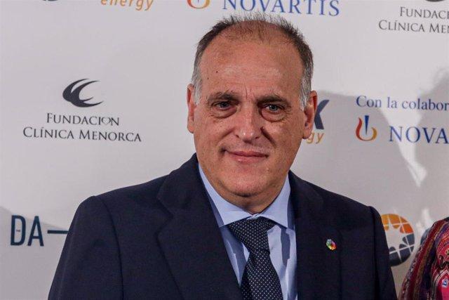 El presidente de LaLiga, Javier Tebas