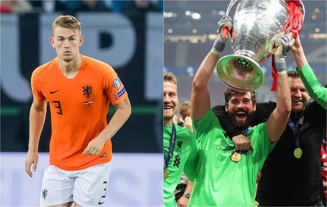 Fútbol/Balón Oro.- De Ligt gana el Trofeo Kopa al mejor joven y Alisson alza el