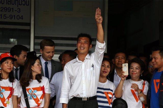 El líder del partido opositor tailandés Futuro Adelante, Thanathorn Juangroongruangkit.
