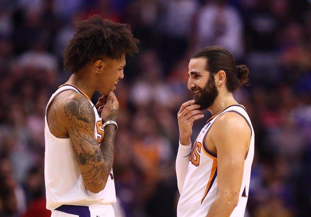 Ricky Rubio y Kelly Oubre con Phoenix Suns