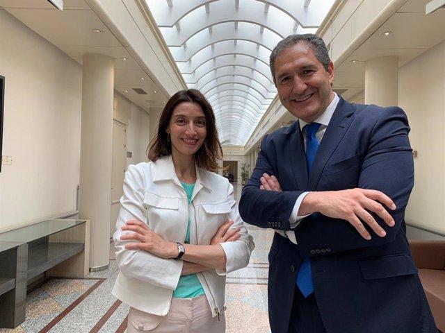 Pilar Llop y José Cepeda, senadores por Madrid.