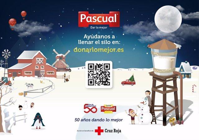 Calidad Pascual lanza una campaña solidaria que permitirá repartir junto a Cruz