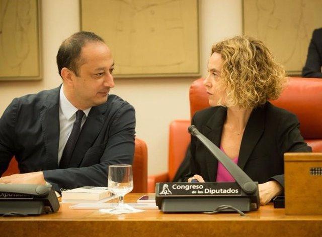 Alfonso Rodríguez de Celis y Meritxell Batet, diputados del PSOE