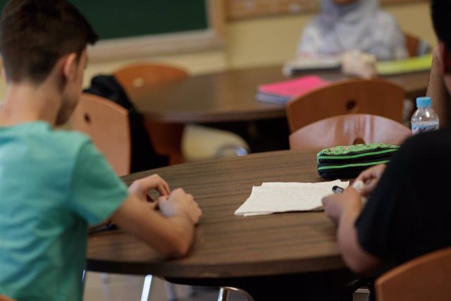 Estudiantes de secundaria en el aula de un instituto madrileño.