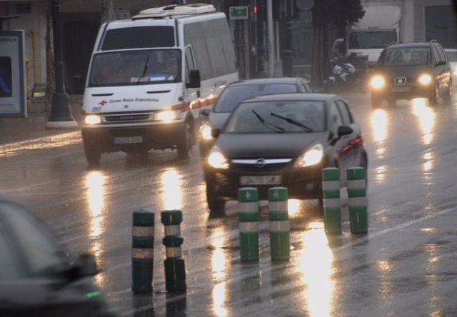 Lluvia en València en imagen de archivo
