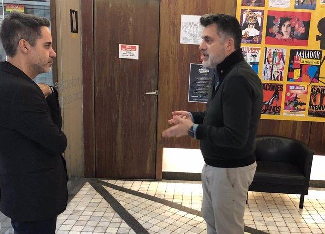 El Director Del ICA, Juan Antonio Lorca (D), Y El Director De La Filmoteca Regional, Ángel Cruz, Han Presentado Dos Nuevos Ciclos De Cine