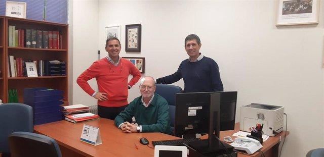Equipo del Estudio PREDIABOLE; de izquierda a derecha: José María Castellano (Instituto de la Grasa/CSIC); José Lapetra y José Manuel Santos (CIBEROBN (Instituto de Salud Carlos III)