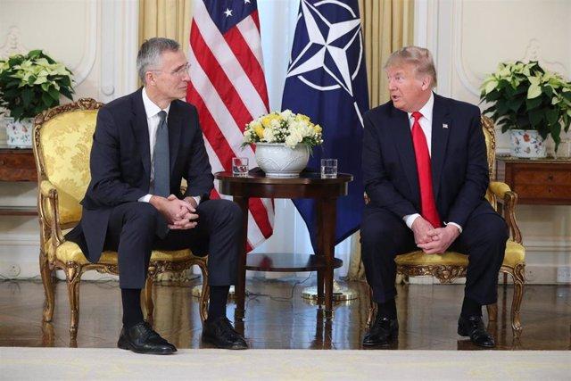 Jens Stoltenberg y Donald Trump