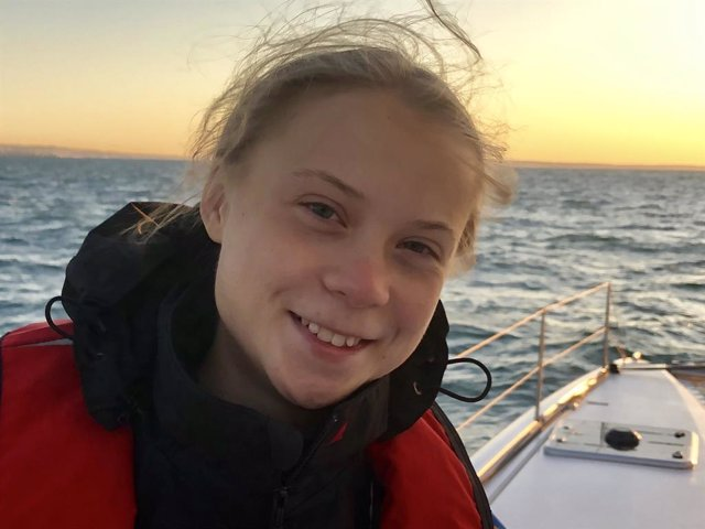 COP25.- Greta a punto de pisar Portugal y dará una rueda de prensa al llegar a L