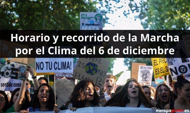 Horario y recorrido de la Marcha por el Clima del 6 de diciembre
