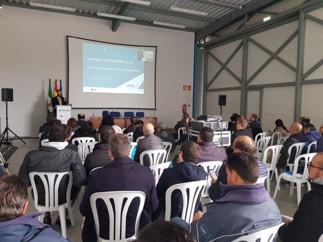 Presentación de resultados del proyecto Safedrone en el Centro Atlas de Villacarrillo (Jaén).