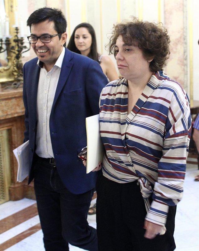 Gerardo Pisarello y Gloria Elizo, candidatos de UNidas Podemos a la Mesa del Congreso
