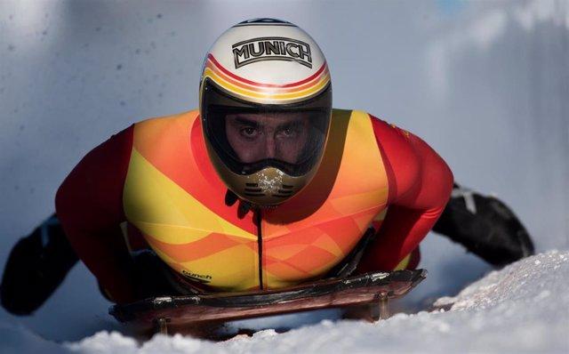 El piloto español de skeleton Ander Mirambell.