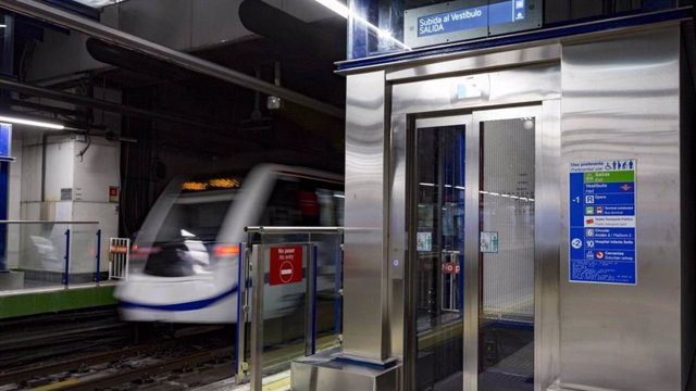 Ascensor en una de las estaciones de Metro de Madrid