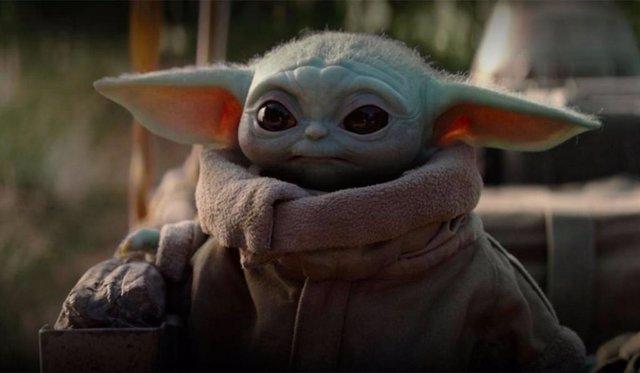 Baby Yoda en la serie The Mandalorian