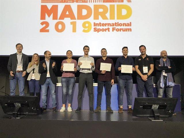 Tomás T. Freitas, investigador del Centro de Investigación de Alto Rendimiento Deportivo (CIARD) de la UCAM, recibe el Premio Applied Science Award, enmarcado en el Congreso International Sport Forum de Madrid.