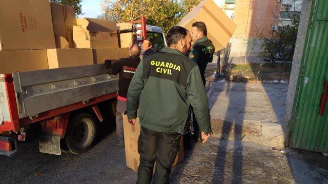 Imagen de los objetos robados recuperados por la Guardia Civil