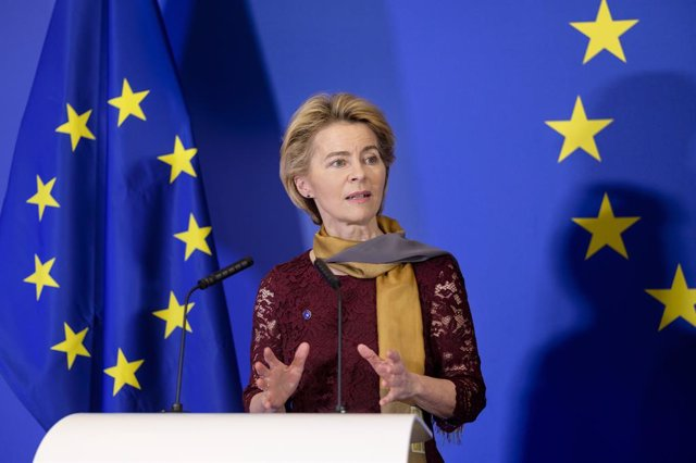 Ursula von der Leyen durant una intervenció l'1 de desembre del 2019, Bruselles, Blgica (Thierry Monasse/Contacte)