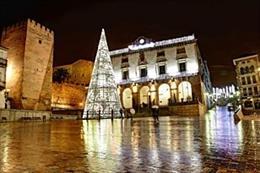 Decoración navideña en Cáceres