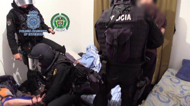 Operativo de la Policía contra una red controlada por un disidente de las FARC que introducía cocaína desde España