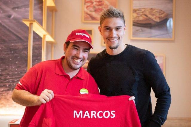 Marcos, jugador de la Fundación Rayo Vallecano, se incorpora a un Telepizza de Madrid