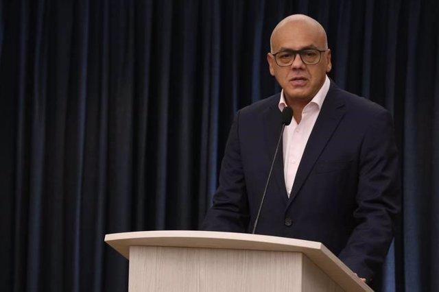 El portavoz del Gobierno de Venezuela, Jorge Rodríguez.