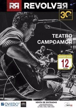 Cartel del concierto de Revolver en Oviedo.