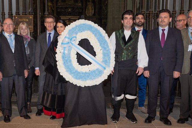 Feijóo preside el acto inaugural del XII Pleno do Consello de Comunidades Galegas