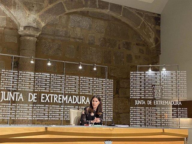 La consejera de Igualdad y portavoz de la Junta, Isabel Gil Rosiña