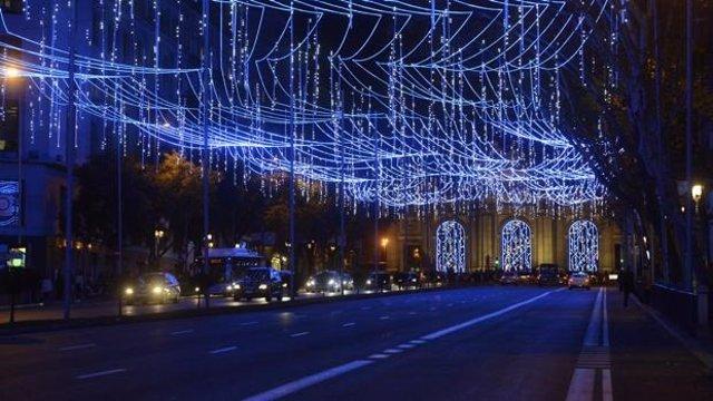 Imagen de recurso de alumbrado navideño en la ciudad de Madrid.