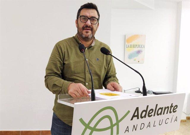El parlamentario andaluz de Adelante Andalucía y coordinador general de IU en Málaga, Guzmán Ahumada
