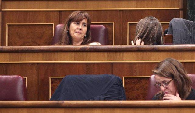 La diputada de JxCat al Congrés, Laura Borrás, durant la sessió de constitució de les Corts per a la XIV Legislatura al Congrés dels Diputats, Madrid (Espanya), a 3 de desembre del 2019.