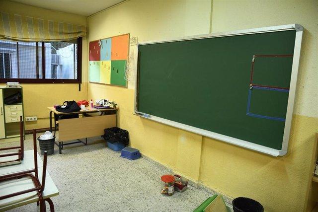 Aula del colegio 'Joaquín Costa' de Madrid.