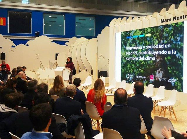 La vicealcaldesa de Madrid, Begoña Villacís, interviene en la Cumbre del Clima de Madrid.