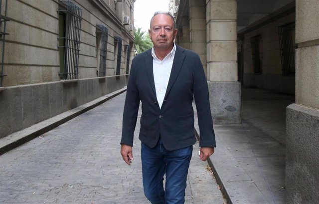 Daniel Alberto Rivera a su llegada al juicio del caso ERE