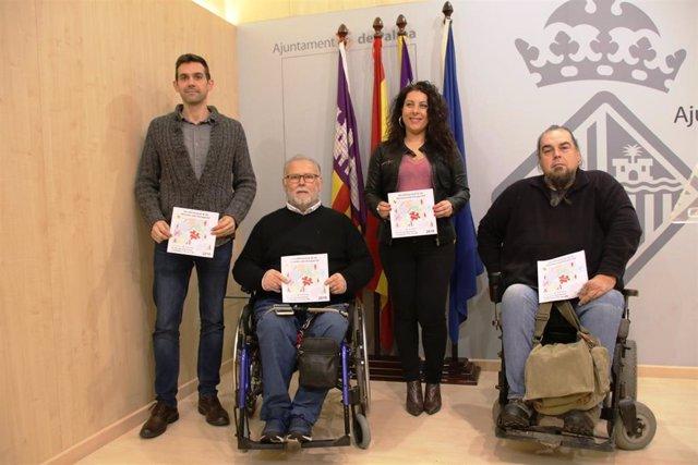 La regidora de infraestructuras y Accesibilidad del Ayuntamiento de Palma, Angélica Pastor, en la presentación de las actividades que se llevarán a cabo en la ciudad por el Día de las Personas con Discapacidad