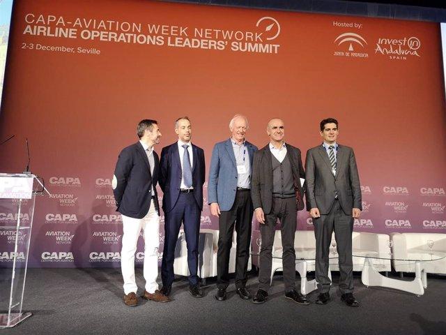 Jornada de clausura del evento internacional CAPA-Aviation Week Network Airline Operations Leaders' Summit celebrado en Sevilla.