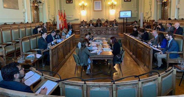 Pleno del Ayuntamiento de Valladolid.