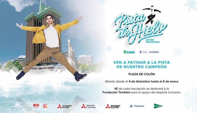 Javier Fernández inaugura su pista de hielo