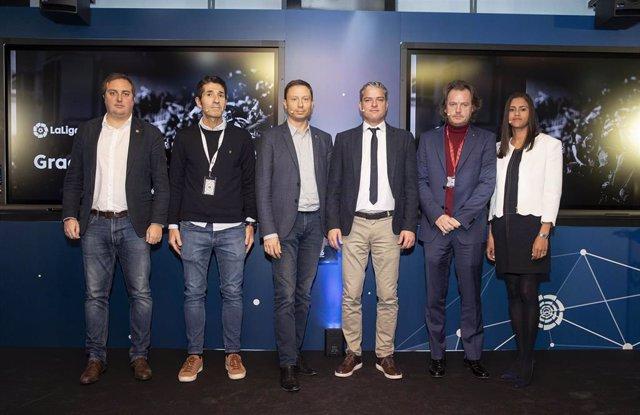 Luis Gil y resto de participantes de LaLiga en el primer 'Showcase' tecnológico de la patronal de clubs