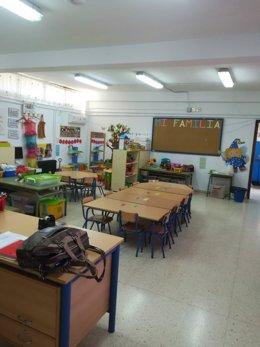Aula del colegio San José Artesano, de Torreblascopedro, en una imagen de archivo.