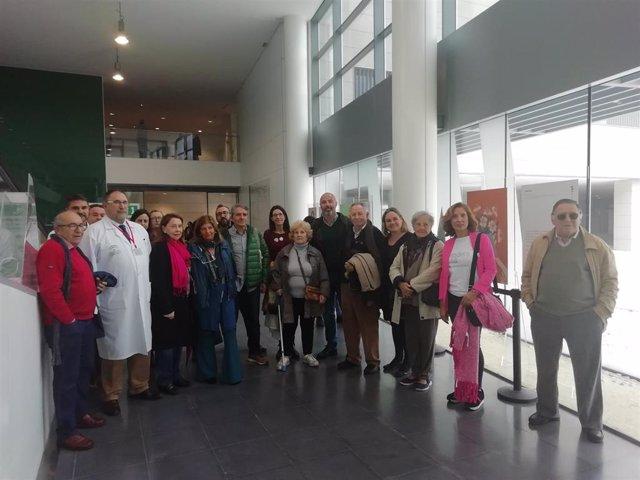 Inauguración de la exposición 'Una palabra. Una mujer. Una vida' en el Hospital de La Línea