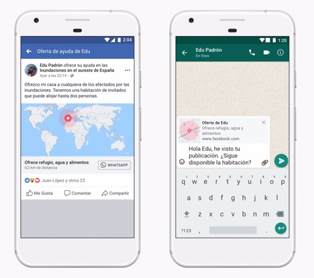Facebook integra la 'Resposta davant emergències' a WhatsApp