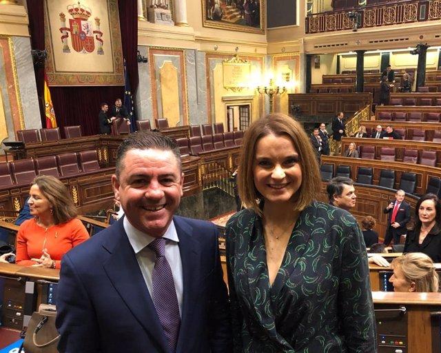 Els diputats del PP al Congrés per Balears, Marga Prohens i Miguel Jerez, en la Cambra baixa. Arxiu, recurs