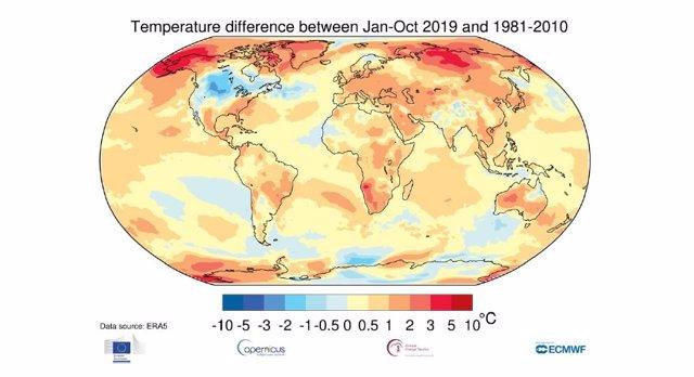El año 2019 cierra una década de excepcional calor.