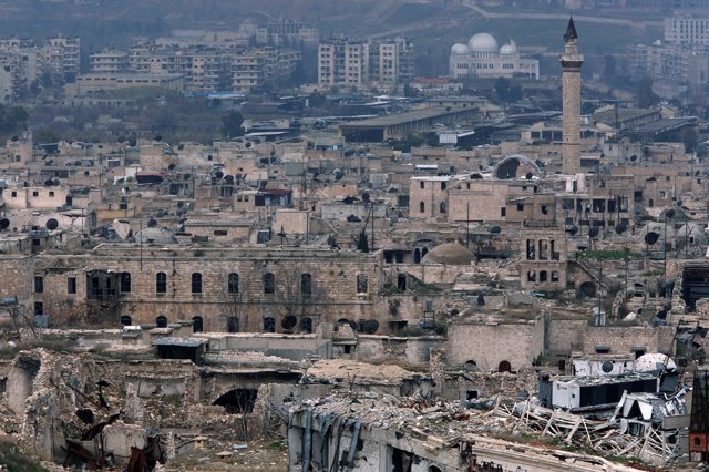 Vista de la Ciudad Vieja de Alepo