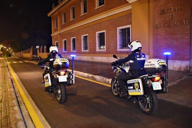 Operativo nocturno de la Policía Local de València