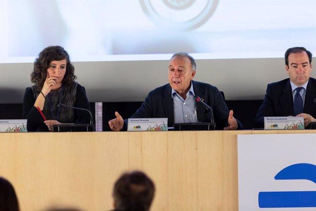 El vicepresident de Mobilitat de l'Àrea Metropolitana de Barcelona (AMB), Antoni Poveda