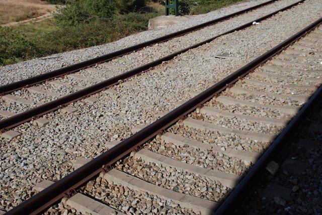 Vies de ferrocarril en una imatge d'arxiu